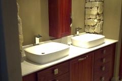 Double bowl bathroom cabinet