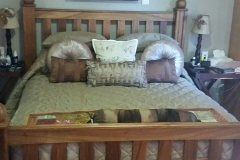 Slated queen size bed