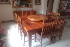 Kiaat dining room table